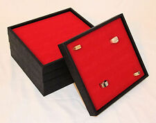 5 Quantity Display Trays With Red 36 Ring Inserts