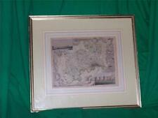 OLD ENGRAVING ENGLISH COUNTY MAP LONDON ENGLAND THOMAS MOULE SCHMOLLINGER 1850