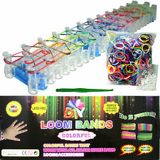 BLUEDOT Loom Band Kit 600 Rainbow Bands Included Loom Board, 25 Clips, Tool New!