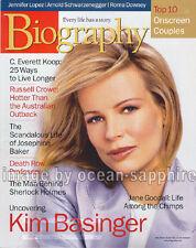 KIM BASINGER Josephine Baker ERIC CLOSE Kristen Johnston JANE GOODALL magazine