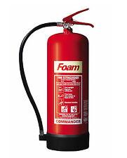 NEW COMMANDER 9 LITRE (9L/9LTR) FOAM (AFFF) FIRE EXTINGUISHER HOME/OFFICE FSEX9