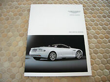 ASTON MARTIN DB 9 SPORT & LUXURY SPECIAL EDITIONS SALES BROCHURE 2011 RARE