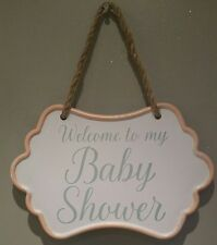 Baby Shower Metal Sign Plaque Party Decor Decoration UNISEX BABY Shabby Chic