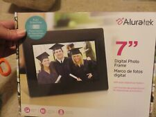 "ALURATEK 7"" Digital Photo Frame with 16GB SDHC card. NEW in Box"