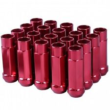 GSP M12 X 1.5mm Type-X 60MM Red Aluminum Wheel Lug Nuts Fit Civic S2K Accord CRX