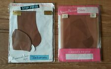 Two pairs of vintage stockings, nylons, seamfree, in original packaging, size 9