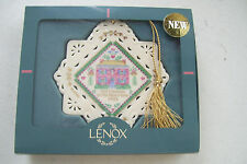 Lenox First Christmas in Our New Home Porcelain Christmas Tree Ornament 1998