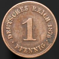 1876 B | Germany 1 Pfennig | Copper | Coins | KM Coins