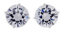 Big Stud Clip On Earrings silver plated with a cubic zirconia stone - Alisha S