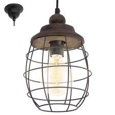 Lampadario vintage D.18 marrone patinato lanterna a 1 luce  GLO 49219 Bampton