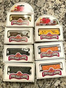 BACHMANN-N SCALE-ROLLING STOCK-BOX/REEFERS/HOPPERS/STOCK-SET OF 7-BRAND NEW