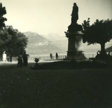 France Haute Savoie Lake Annecy Public garden old Possemiers Stereo Photo 1920