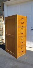 Antique American Quarter Sawn Tiger Oak 4 Drawer File Cabinet