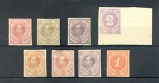 DUTCH WEST INDIES-CURACAO-1872/1889 8 x PROOF (*) AS ISSUED F/VF - MIXED QUALITY