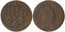 1655-58 France 1 Liard Off-Center Error Coin Louis XIV Tours Mint KM#192.6