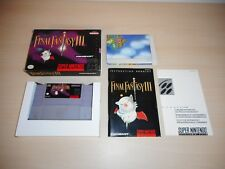 Final Fantasy III 3 Complete CIB Super Nintendo SNES FF3 FFIII w/ Poster