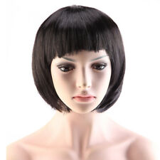 Women Anime Short BOB Full Wigs Long Curly Hair Heat Resistant Synthetic Wig HOT