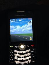 Blackberry 8100 Black W/Black Silicone Case And Charger