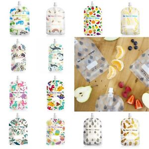 NEW 150ml Sinchies Reusable BPA Free Safe Baby Infant Food Pouches 5 10 Pack