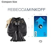 NWT Rebecca Minkoff Mini Lexi Bucket Purse Bag KEY FOB KEYCHAIN CHARM(NOT Coach)