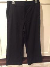 Counterparts Black Trouser Cuffed Capri Pants Womens Size 10