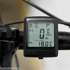 Bike Computer Heart Rate Monitor Fitness Bicycle Speedometer Odometer LCD