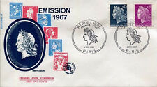 FRANCE FDC - 627 1535 1536 1 REPUBLIQUE DE CHEFFER - 4 Novembre 1967