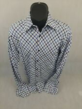 Bamboo Mens Long Sleeve Button Front Large Striped
