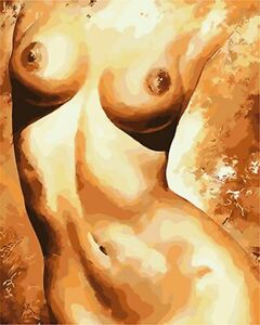 Painting By Number Kit DIY Paint Number People Canvas Paint Oil Naked Chest Girl