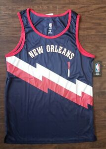 "Zion Williamson ""1"" NBA TANK TOP JERSEY Blue Red New Orleans S  VXM7843F"