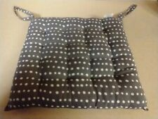 PATIO CHAIR SEAT CUSHIONS W/TIES NAVY POLKA DOTTED SET OF 4 NON-WATERPROOF EUC