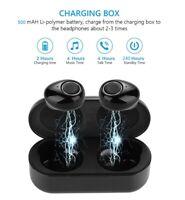 Bluetooth TWS Headset Wireless Sport Stereo Headphones Earphone Earbuds With Mic