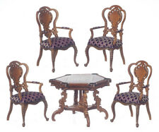 Platinum 1:12 Montecarlo chess set table chairs walnut scacchi tavolo noce -30%