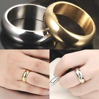 7mm Gold Silver Plated Titanium Men Wedding Ring Women Band Pinky Sizes K to Z+1
