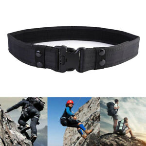 Black Military Tactical Belt 3 Types 51*2in Adjustable Waistband Attach To Molle