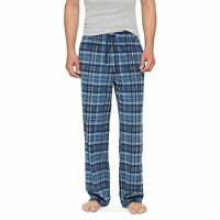 Merona Mens Blue Foil Plush Plaid Checks Sleeping PJ Pajama Lounge Pants L or XL