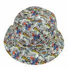 Superman Boy's Youth Little Kid DC Comics Reversible Sublimated Bucket Hat Cap