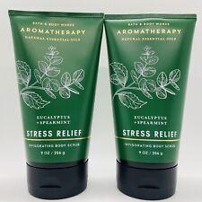 2 Bath & Body Works Stress Relief Eucalyptus Invigorating Body Scrub 8 oz