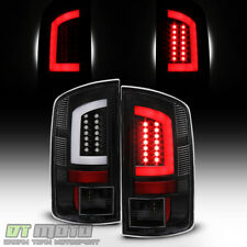 Black 2007-2008 Dodge Ram 1500 07-09 Ram 2500 3500 [LED Tube] Tail Lights Lamps