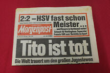 Mopo Zeitung 5. Mai 1980 * Tito ist  tot