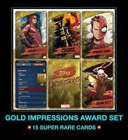 Topps marvel Collect Debut SR Set//award Digital