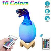 Best Dinosaur Night Light 3D Dinosaur Toys Egg Lamp For Kid Lights Gift C1B2