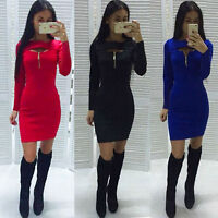 Womens Bodycon Cocktail Bandage Dress Ladies Party Evening Dress Size 6-14