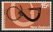 La Nouvelle Zélande 1970-6 SG # 926, 15c Maori hameçon définitif avec WMK neuf sans charnière #D 9565