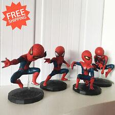 Spider Man Avengers Action Figure Posture Anime Figurine Toy Model 4pcs/set Cute