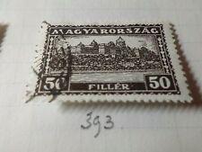 HONGRIE 1926, timbre CLASSIQUE 393, PALAIS ROYAL oblitéré, VF CANCEL STAMP