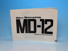 Nikon Motorantreib MD-12 Gebrauchsanweisung manual mode d'emploi - (100773)