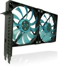 GELID Solutions slot PCI VGA COOLER FAN Holder con due SLIM 120mm VENTOLE UV