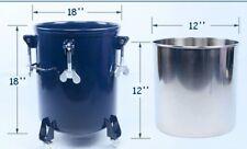 5gal Pressure Feed Paint Mixer Pot Tank Sprayer Regulator Air Agitator Bucket Us
