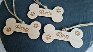 Personalised Wooden Dog Name plaques, Hanging Dog Box Plaque, Dog Bed/Cage Gift